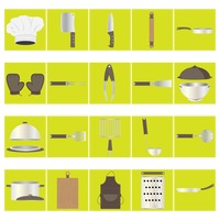 热门 : Set of kitchen icons