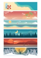 Set of nature banners