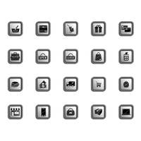 Set of online shopping icons
