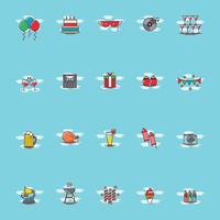 Set of party icons