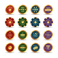 Set of poker club chips