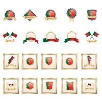 Set of portugal badges
