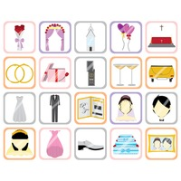 Set of wedding theme icons
