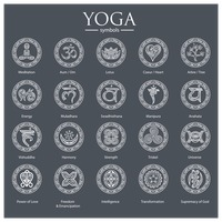 Set of yoga symbols