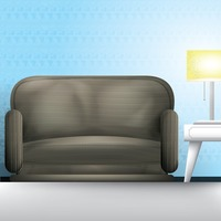 Sofa and table lamp