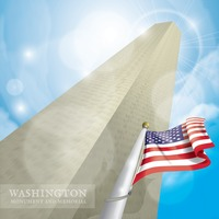 The washington monument and memorial