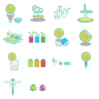 Various recycle and environmental icons