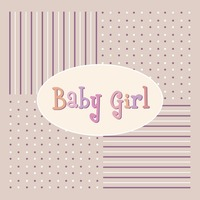 Vector with text saying baby girl