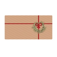 Vintage gift box with red ribbon