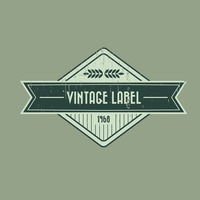 Vintage product label design