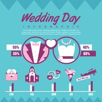 Wedding day infographic