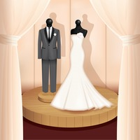 Wedding gown and suit
