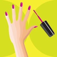 Woman hand with nail polish brush