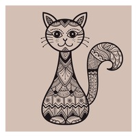 Zentangle cat design