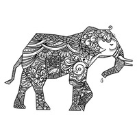 Zentangle elephant design