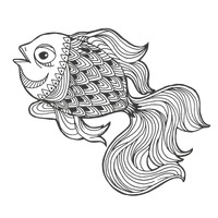 Zentangle fish design