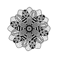 Zentangle floral design