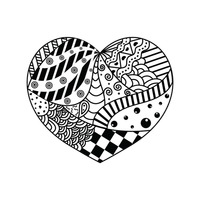 Zentangle heart design