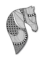 Zentangle horse design