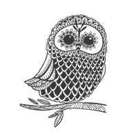 Zentangle owl design