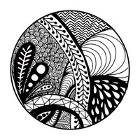 Zentangle pattern design