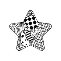 Zentangle star design