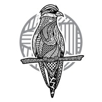 Zentangle styled bird