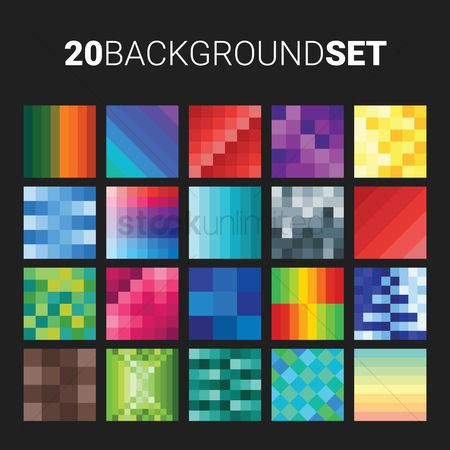 平方 : 20 background set