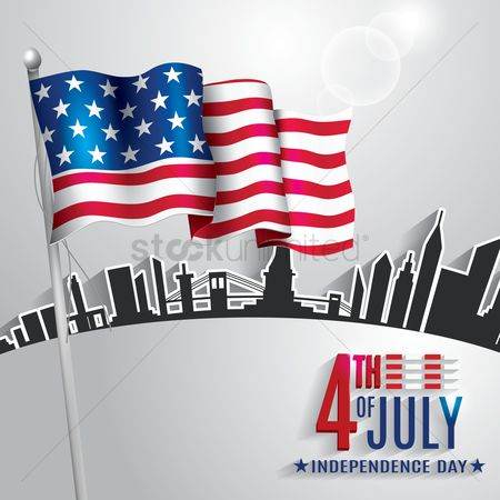 波 : 4th of july independence day poster