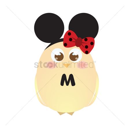 色带 : A chick wearing mouse ears and a ribbon
