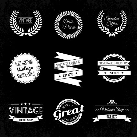 搜藏 : A collection of vintage labels