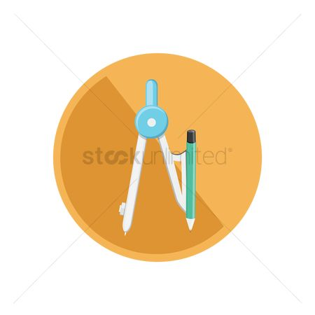学校 : A geometry compass and pencil