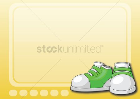 标签 : A label with green shoe