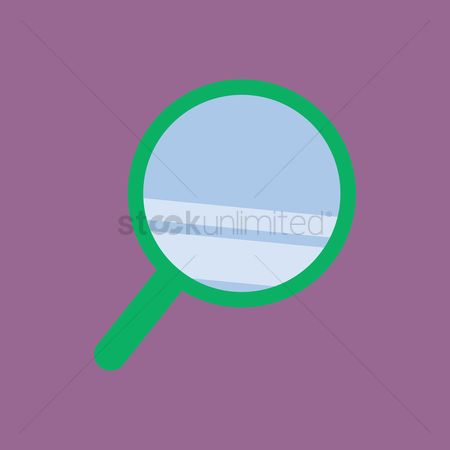 学校 : A magnifying glass