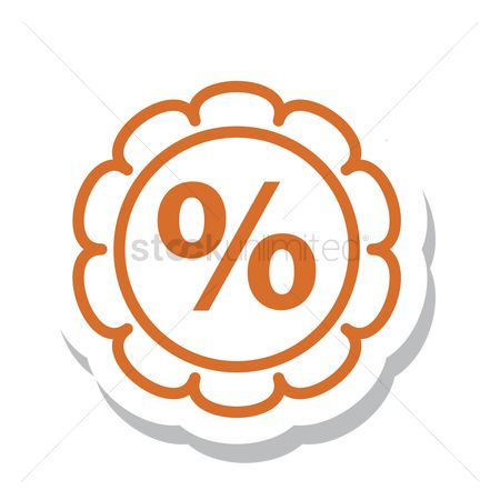 标签 : A percentage badge