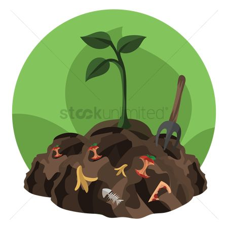 垃圾 : A plant grown in the waste mud