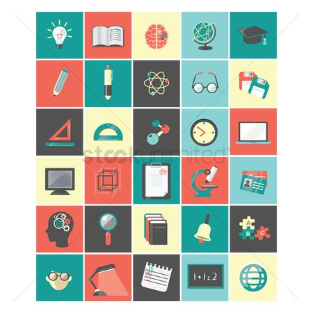 图标 : A set of education icons