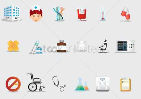 心脏 : A set of medical icons
