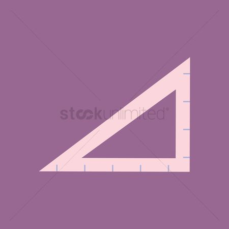 学校 : A triangular ruler