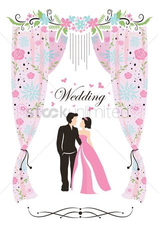 复古 : A wedding card