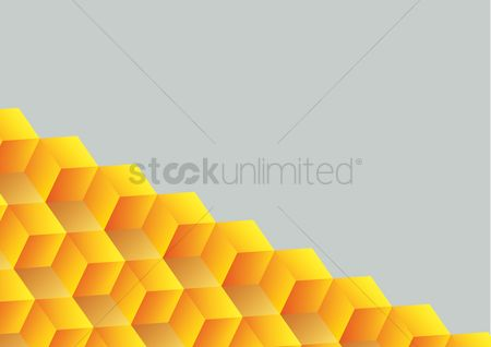 平方 : Abstract seamless background with cube decoration