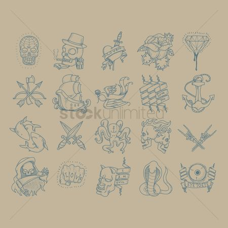 色带 : Abstract tattoo set