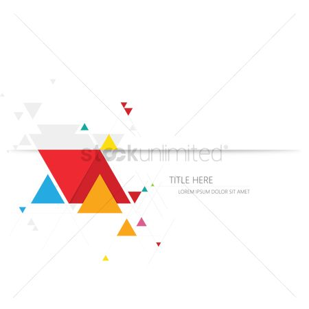 请帖 : Abstract triangle background