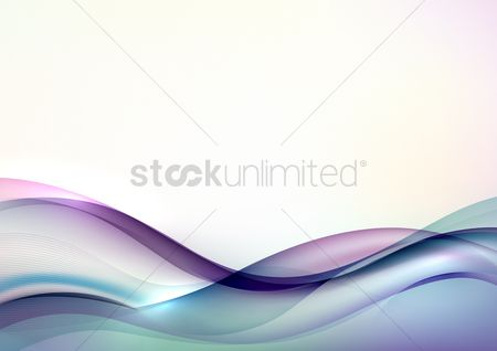 抽象化 : Abstract wave background