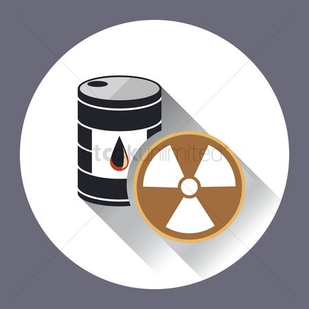 标签 : An oil drum with a radioactive sign