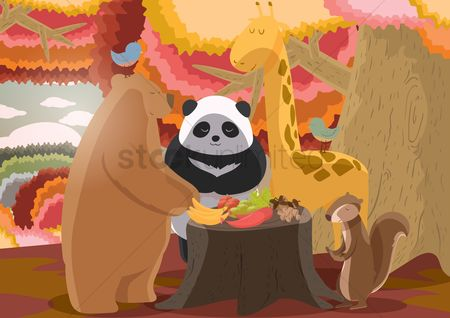 庆典 : Animals celebrating festival