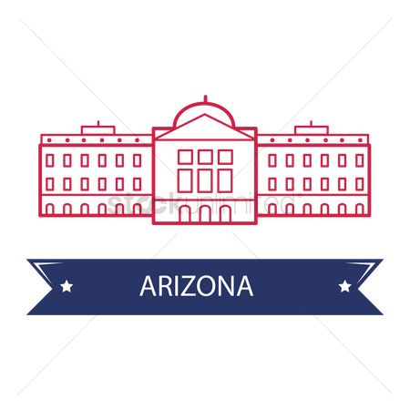 房屋地标 : Arizona state capitol