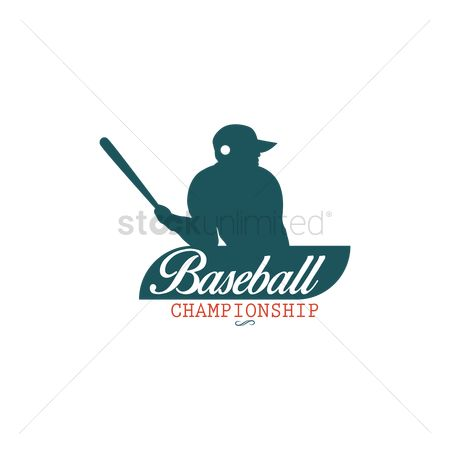 运动员 : Baseball label