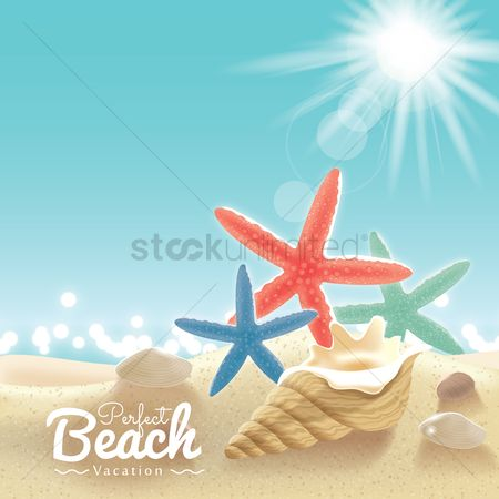 抽象化 : Beach vacation background