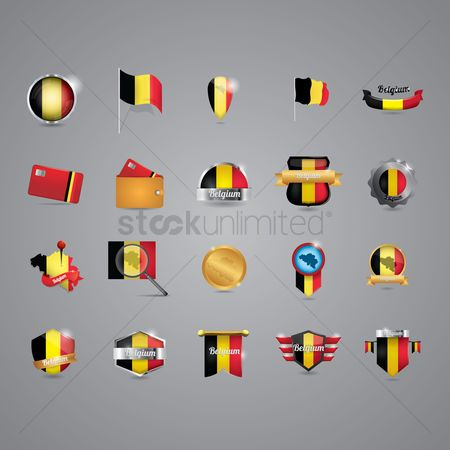 波 : Belgium icon set